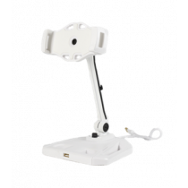 """Stand for smartphones and tablets, 4-12.2"""", USB extension, 360 rotation DELTACOIMP white / ARM-265"""