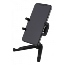 DELTACO Universāls portatīvais viedtālrunis un planšetdatora statīvs, 360 rotācija,