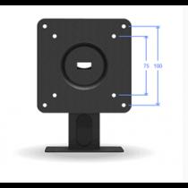 Desktop VESA stiprinājums, 100x100, 150 grādu slīpums, alumīnijs, melns