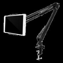 """DELTACO statīvs tālruņiem un planšetdatoriem 4 """"-12,9"""", c-skava, 360 °, melns"""