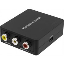 DELTACO HDMI Converter to Composite Video Converter, Black  / AV-HDMI1