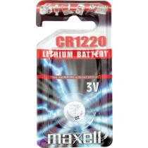 Maxell knappcellsbatteri, CR1220, litijs, 3V, 1 iepakojums