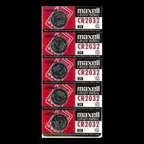 Maxell monētu šūnu akumulators, litijs, 3V, CR2032, 5 gab