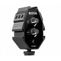 Audio adapter BOYA for smartphones, DSLR camera, black / BOYA10000