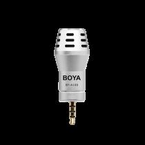 Rounded Microphone BOYA for iPhone / iPad / iPad, silver / BYA100 / BOYA10009