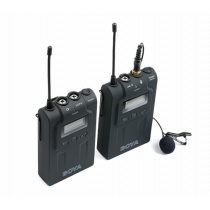 Wireless UHF microphone system BOYA 48 UHF channels, black / BY-WM6 / BOYA10018