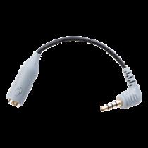 BOYA viedtālrunis TRRS adapteris, 3,5 mm TRS līdz 3,5 mm TRRS, ekranēts kabelis,
