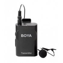 Wireless Lavender Microphone, real-time monitoring, powered by an AA battery, black BOYA / BOYA10084