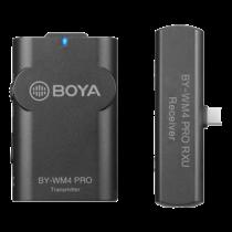 BOYA 2.4G bezvadu mikrofona komplekts melns