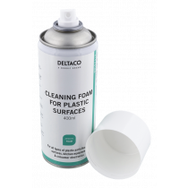 DELTACO Cleaning foam for plastic surfaces, 400 ml / CK1023