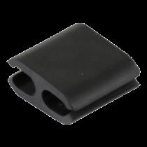 Cable holder DELTACO 4-pack, black / CM518