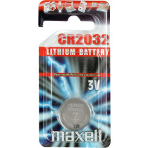 Maxell knappcellsbatteri litija, 3V (CR2032), 1 iepakojums