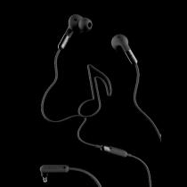 Earphone DeFunc MUSIC, black / D0031