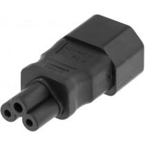 DELTACO strāvas adapteris, IEC 60320 C14 līdz IEC 60320 C5, 250V / 2,5A, atbilde