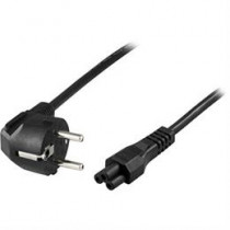 DELTACO grounded cable CEE 7/7 to IEC 60320 C5 , max 250V / 2.5A, 0.2m, black DEL-109CA-20