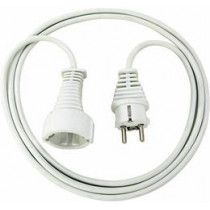 Brennenstuhl earthed extension cable straight CEE 7/7 to straight CEE 7/4 (Schuko), 2m white 1168120015 / DEL-118E