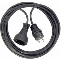 Brennenstuhl earthed extension cable straight CEE 7/7 to straight CEE 7/4 (Schuko), 3m , black 1165430 / DEL-118H