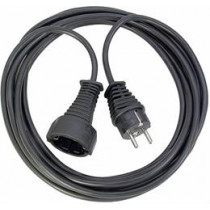 Brennenstuhl earthed extension cable straight CEE 7/7 -  CEE 7/4 (Schuko), 5m , black 1165440 / DEL-118J