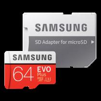 Memory card SAMSUNG MicroSDXC EVO Plus 64GB, 60 MB/s write, 100 MB/s read, red MB-MC64GA/EU / DEL1009353