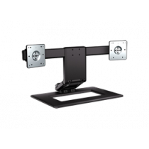 "Dual-Monitor Adjustable Stand, up to 24"", tiltable, rotatabl HP black / DEL2000323"