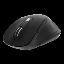 DELTACO Office ergonomiskā pele, klusie klikšķi, bezvadu 2.4G, 2400 DPI