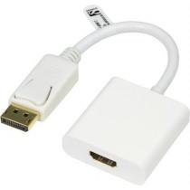 Adapter DELTACO 0.2m, white / DP-HDMI12