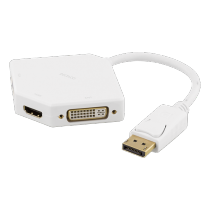 Adapter DELTACO 0.2m, white / DP-MULTI5