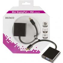 Adapter DELTACO 0.2m, black / DP-VGA3-K