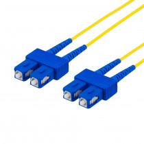 DELTACO fiberkablage SC - SC, duplekss, vienrindas OS2, 1m