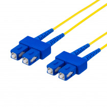 DELTACO fiberkablage SC - SC, duplekss, vienrindas OS2, 3m