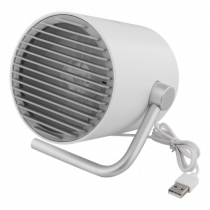 USB fan DELTACO two speeds, 1m USB cable, white / FT-741