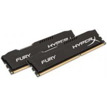 Kingston HyperX Fury Black , DIMM, DDR3, 2x8GB, 1600MHz, CL10, 1.5V  HX316C10FBK2/16 / KING-1352