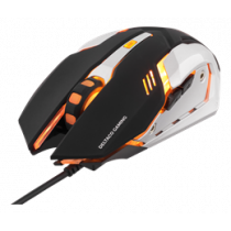 DELTACO GAMING optical USB gaming mouse, 1000 - 3200 DPI, orange light, 1.5m USB cable, black / GAM-020