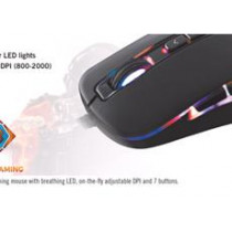 DELTACO GAMING mouse with LED, black / GAM-029