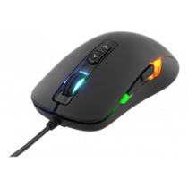 DELTACO GAMING Optical Mouse, 800-2000 DPI, 125 Hz, 7 Buttons, LED Lighting, USB, Black / GAM-029