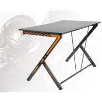 DELTACO GAMING Spēļu galds, metāla kājas, PVC apstrādāta virsma, melna / vai