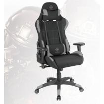 DELTACO GAMING Spēļu krēsls neilona, kakla spilvens, muguras spilvens, melns