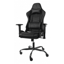 DELTAO GAMING Gaming chair in imitation leather, ergonomic, 5-point wheelbase, high back, black  GAM-096