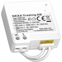 Dimmer/receiver NEXA WMR-252, 433.92 MHz, 230 V / GT-267