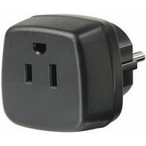 Brennenstuhl ceļojumu adapteris, ASV / jap ES, iezemēts, melns