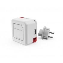 Power Bank ALLOC 5000mAh, 4x USB, 1x Micro USB, white, 44-9402 / GT-619
