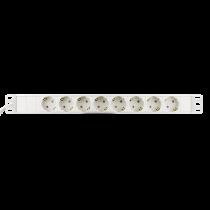 DELTACO filiāles ligzda ar 8xCEE 7/4 kontaktligzdu, 1xCEE 7/7, vāciņa aizsargs, balts