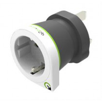 Q2power grounded travel adapter, EU to UK, 10A, white  EU2UK / GT-908