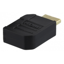 DELTACO HDMI adapter, 19-pin male to female, angled left, gold plated connectors DELTACO / HDMI-21A