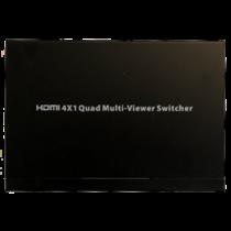 HDMI Multiviewer slēdzis, 4x1 HDMI, Full HD, trīs displeja režīmi, melni
