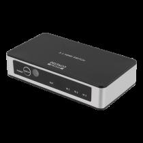 DELTACO PRIME Premium 3 portu HDMI slēdzis ar IR bezvadu tālvadības pulti