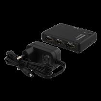 HDMI Splitter DELTACO 1xHDMI in, 4xHDMI out, 6.75 Gbit/s, 1920x1080 in 60Hz, black HDMI-7051