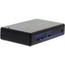 Signalomvandlare HDMI - S-video / kompositvideo, PAL / NTSC, HDCP, svart