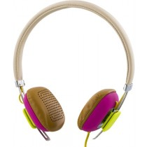 Headphones STREETZ, with microphone, white/rose / HL-262