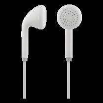 STREETZ stereo austiņas, mikrofons, skaļuma regulēšana, 3.5mm, 1.2m, balts